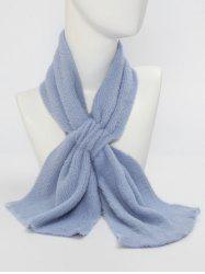 Winter Criss Cross Faux Plush Scarf -