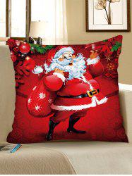 Christmas Pattern Polyester Pillow Cover -