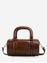Solid Business Leather Boston Bag -