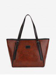Double Buckle Classic Tote Bag -