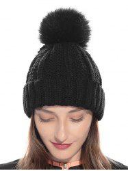 Classic Fuzzy Ball Winter Knitted Hat -