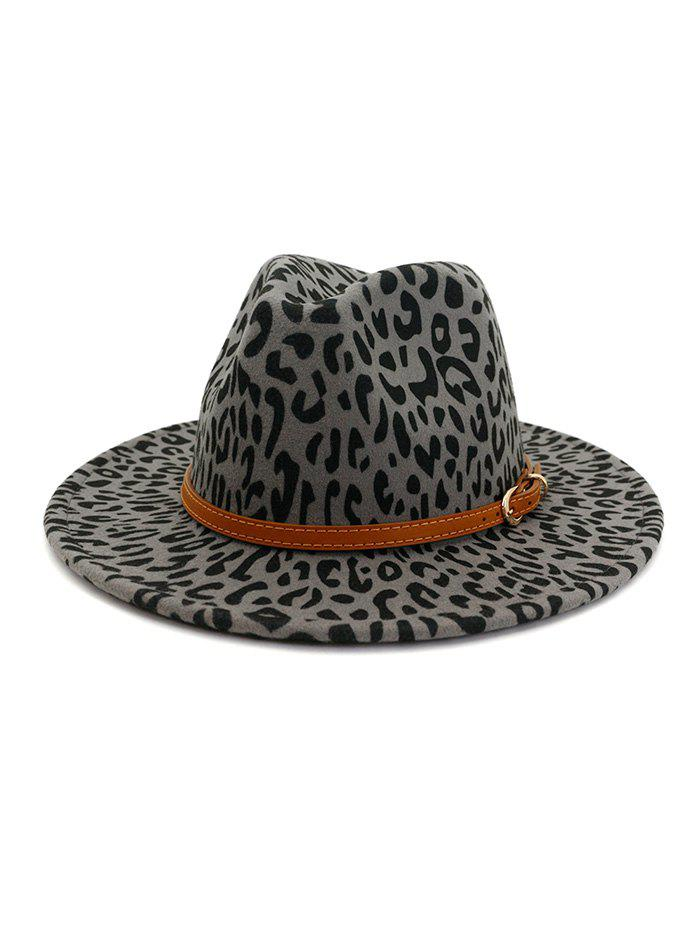 Affordable Vintage Leopard Belt Embellished Jazz Hat