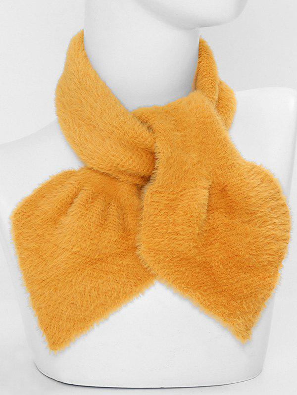 Buy Faux Fur Winter Heart Shape Cross Scarf
