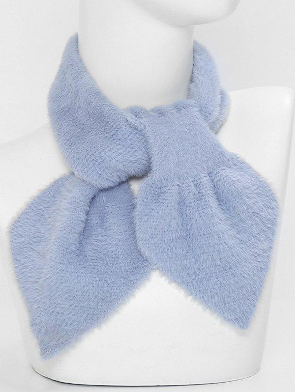 Best Faux Fur Winter Heart Shape Cross Scarf