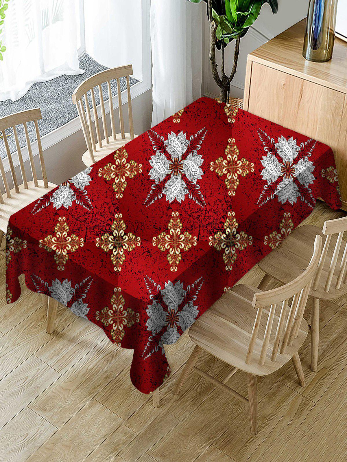 Fashion Abstract Floral Fabric Waterproof Table Cloth