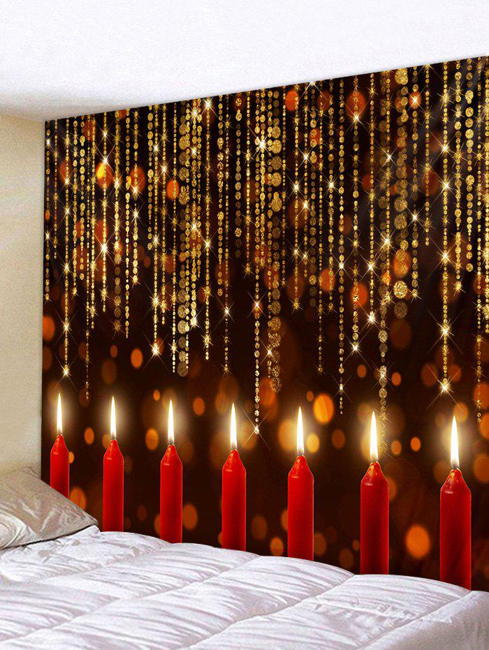 Fancy Christmas Candle Pattern Tapestry