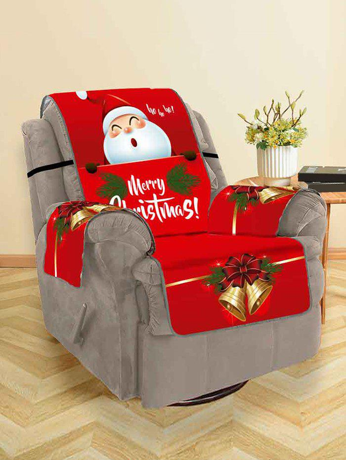 Online Christmas Bell Santa Claus Design Couch Cover