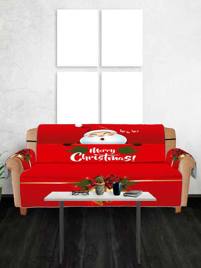 Discount Christmas Bell Santa Claus Design Couch Cover