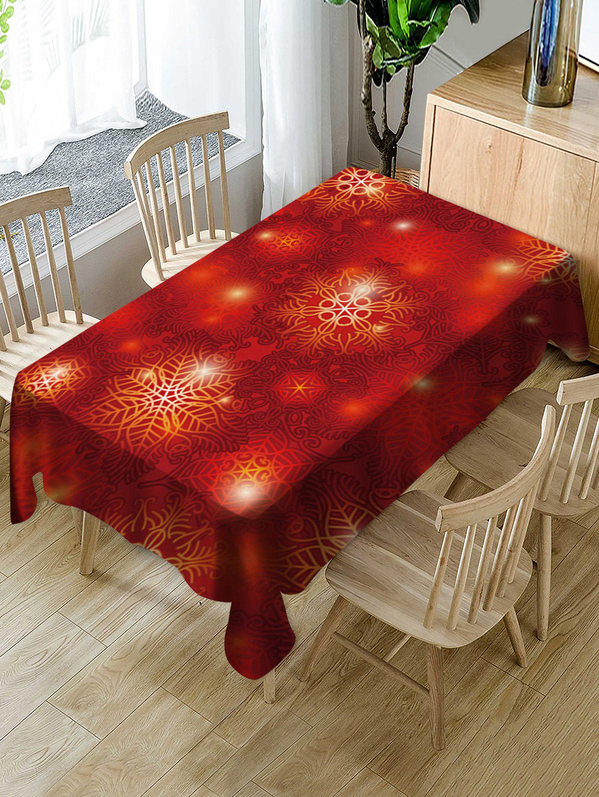 Chic Christmas Fabric Waterproof Table Cloth