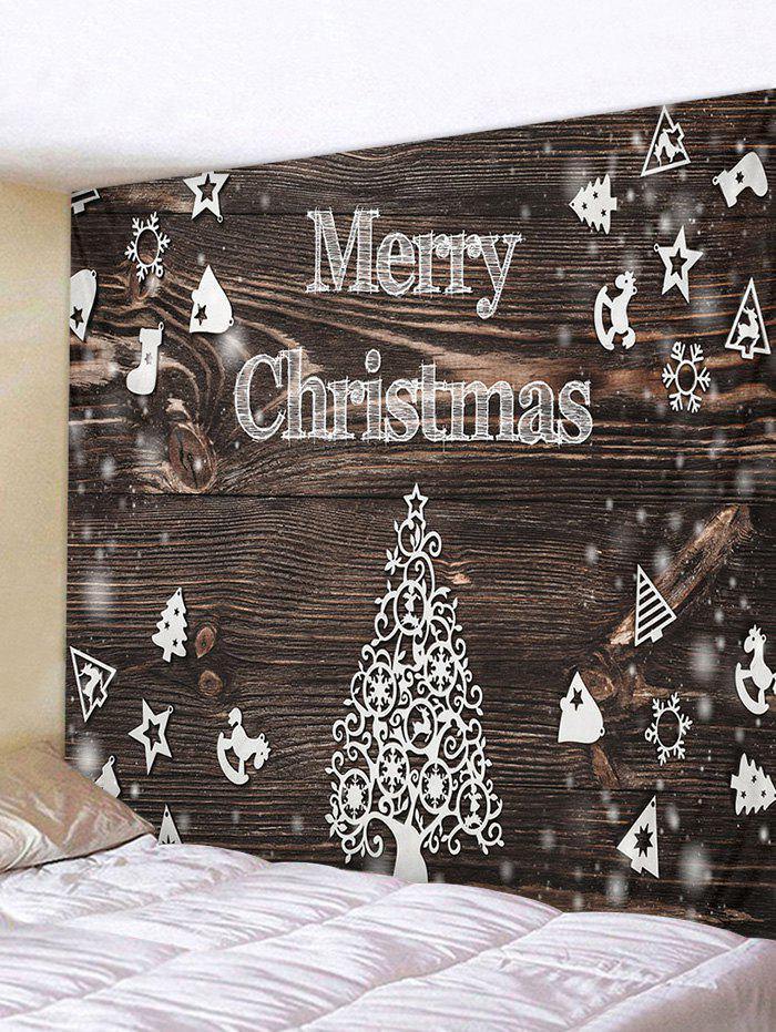 Unique Christmas Tree Wood Grain Print Tapestry Wall Hanging Art Decoration