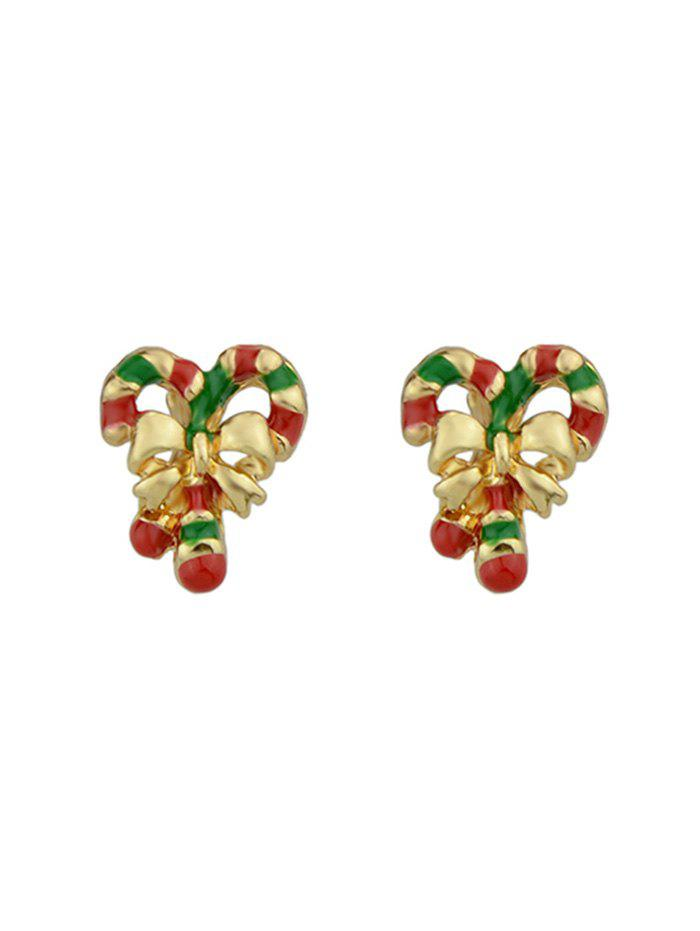 Outfits Christmas Stick Bowknot Stud Earrings