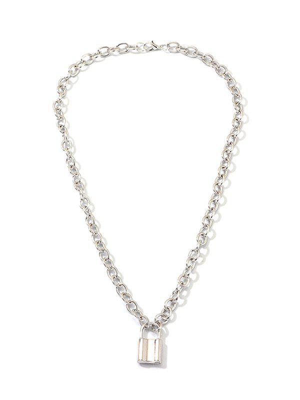 Outfit Brief Lock Pendant Link Chain Necklace