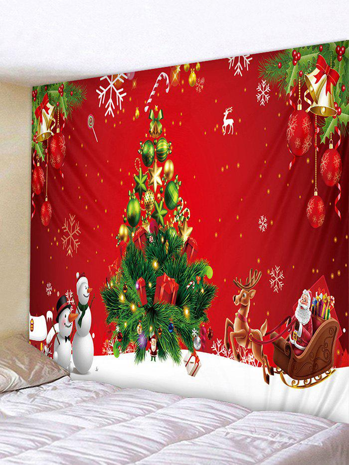 Outfit Christmas Tree Gift Snowman Pattern Tapestry