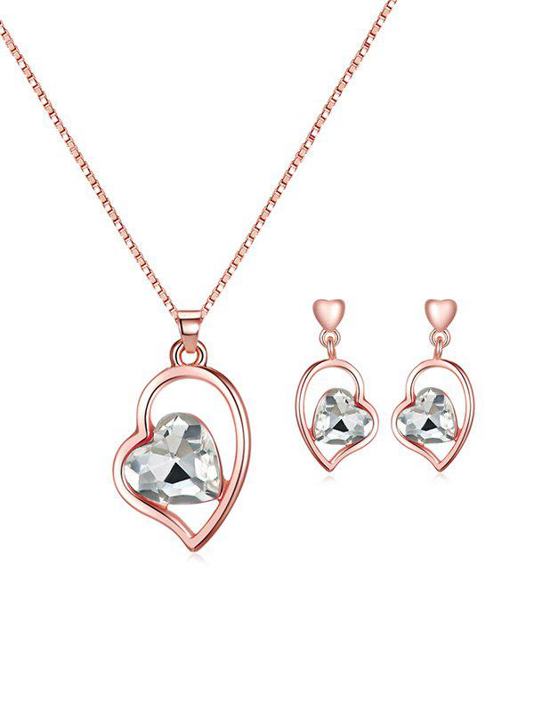 Best Artificial Gem Heart Necklace with Earrings