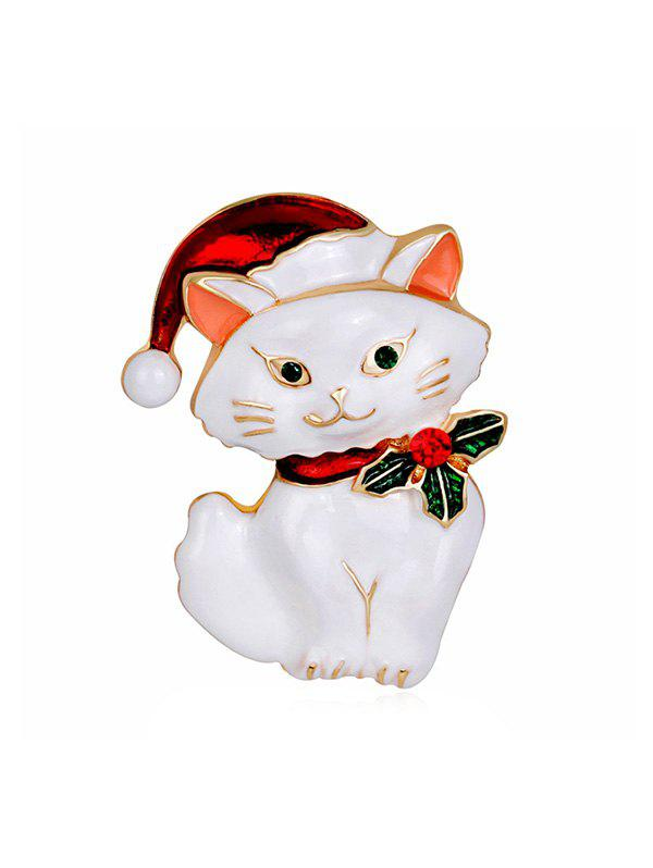 Store Christmas Hat Cat Rhinestone Brooch
