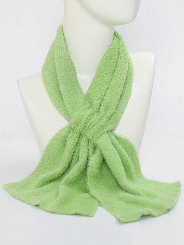Discount Winter Criss Cross Faux Plush Scarf