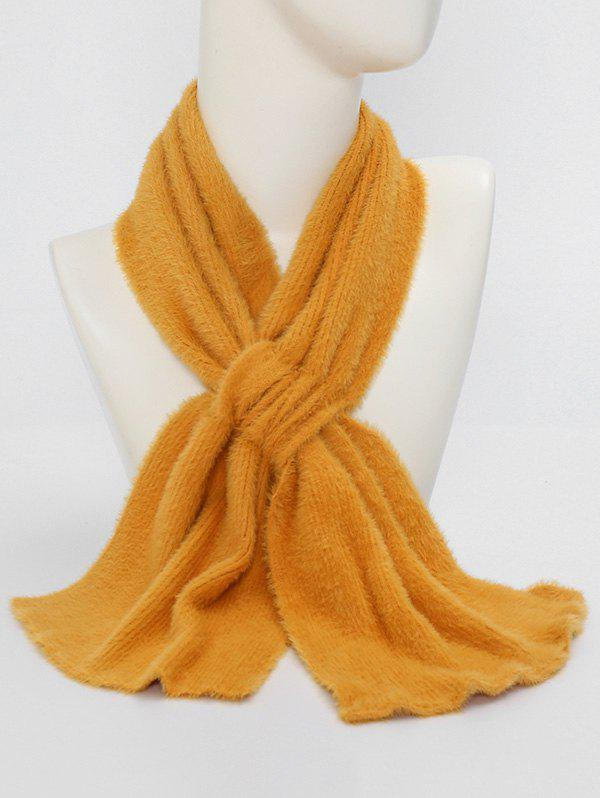 Affordable Winter Criss Cross Faux Plush Scarf