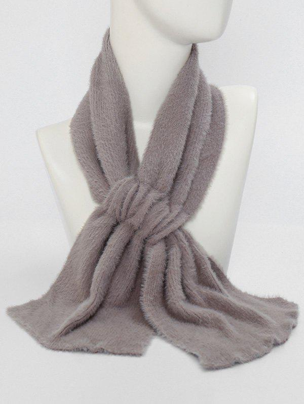 Outfit Winter Criss Cross Faux Plush Scarf