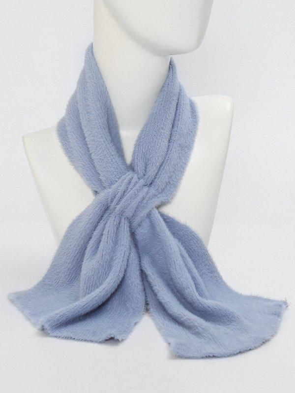 New Winter Criss Cross Faux Plush Scarf