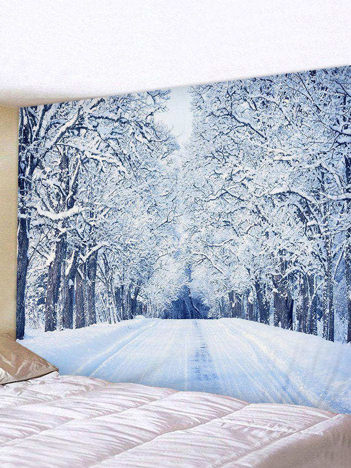 Fancy Snow Forest Road Print Tapestry Wall Hanging Art Decoration