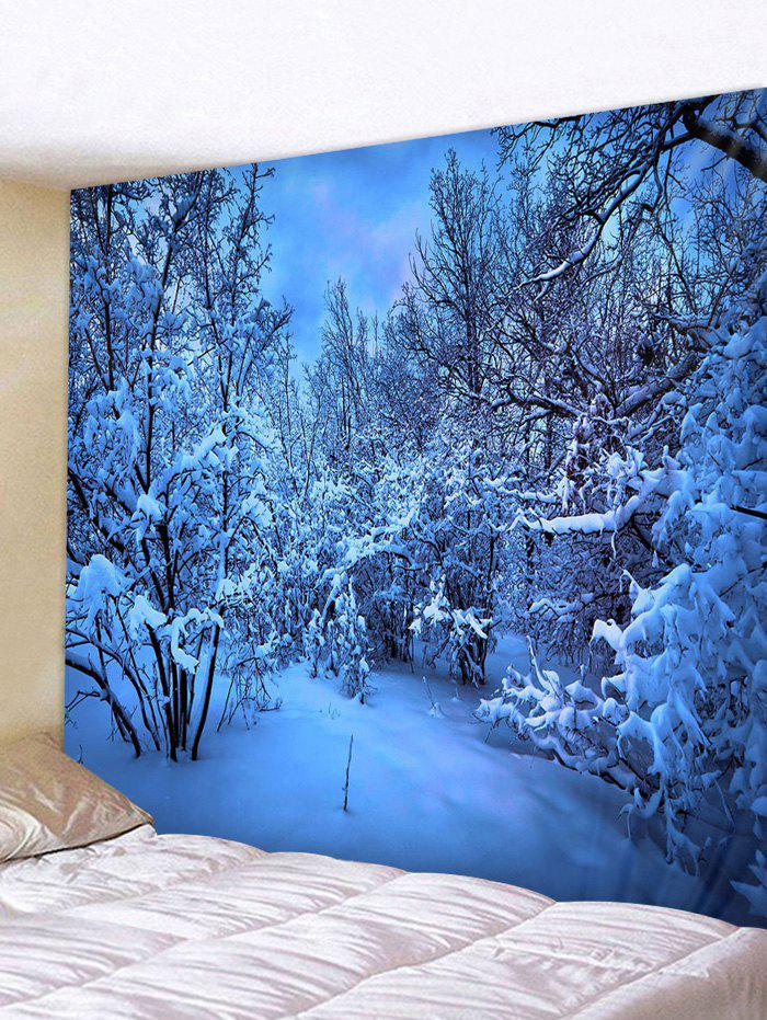 Discount Snow Night Moon Pattern Tapestry