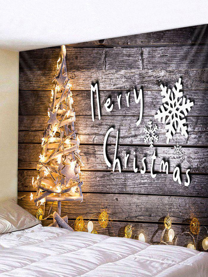 Discount Christmas Tree Lights Print Tapestry Wall Hanging Art Decoration