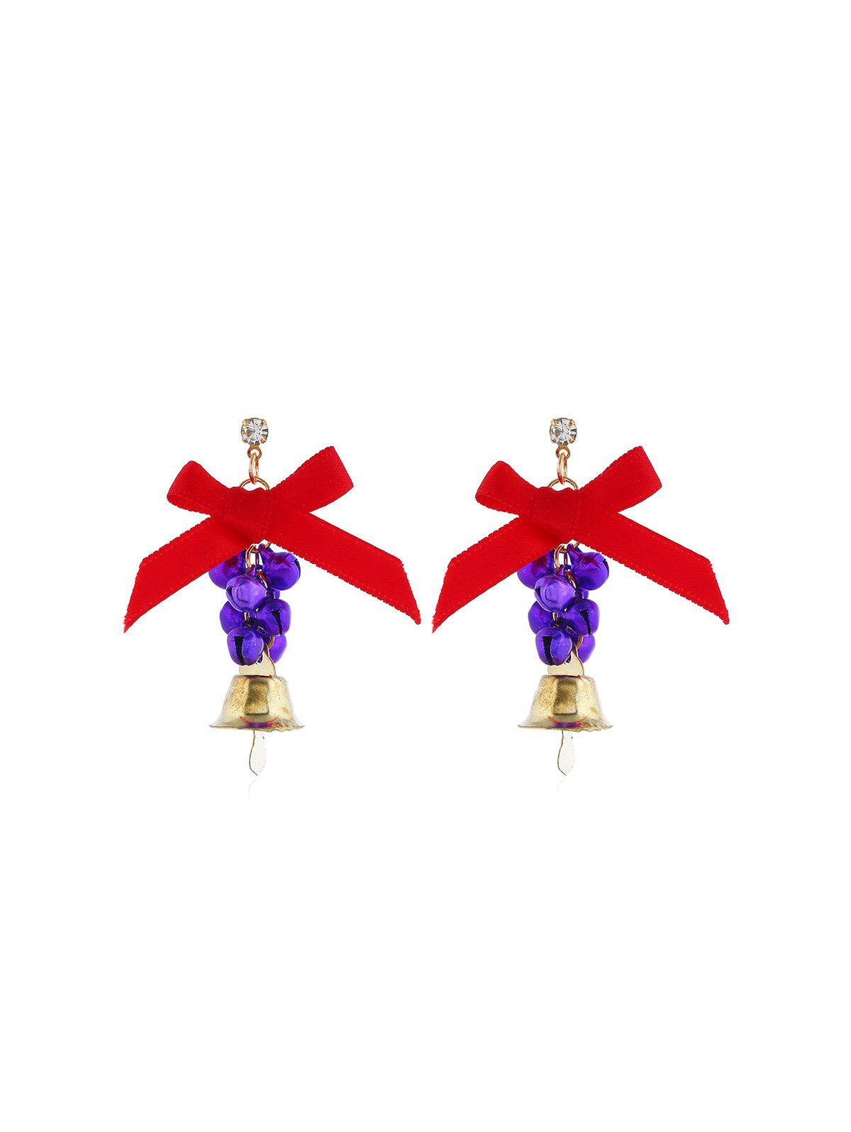 New Christmas Bowknot Bells Drop Earrings