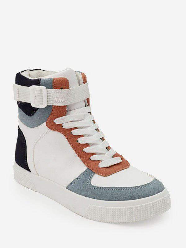 Outfits Color-blocking High Top Flat Skate Shoes
