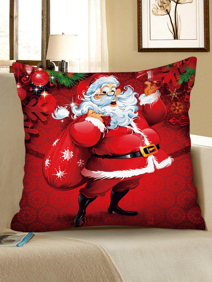 Trendy Christmas Pattern Polyester Pillow Cover