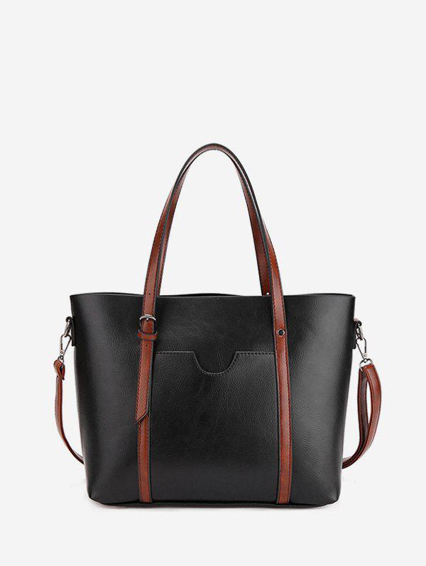 Shops Simple Pocket Leather Tote Bag