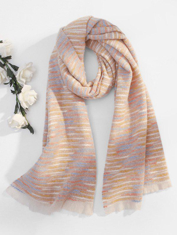 Buy Faux Woolen Winter Thick Tassel Scarf