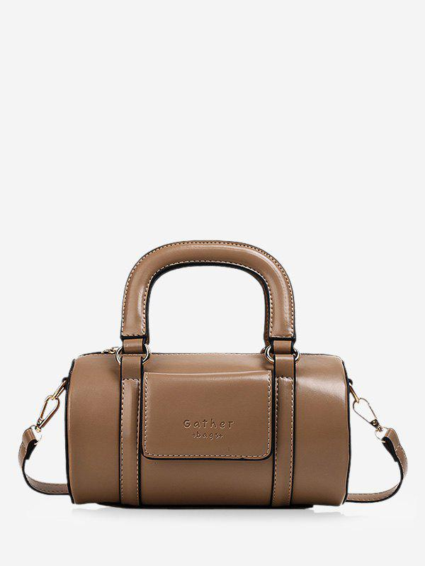Shops Solid Business Leather Boston Bag