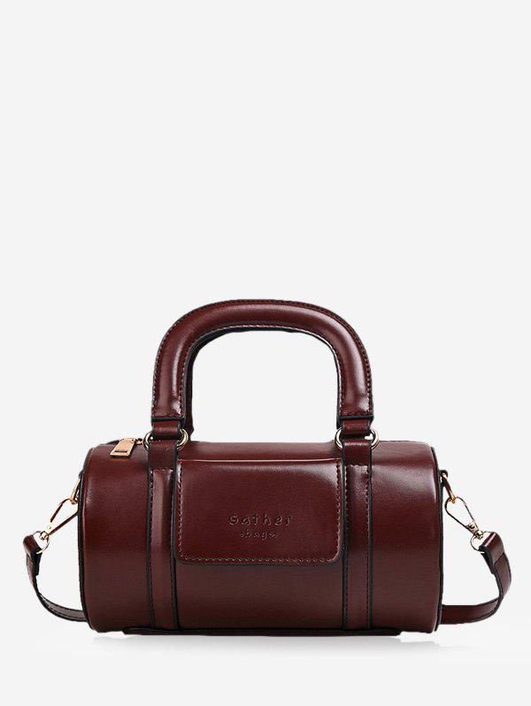 Outfit Solid Business Leather Boston Bag