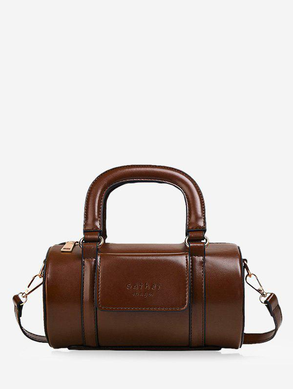Chic Solid Business Leather Boston Bag