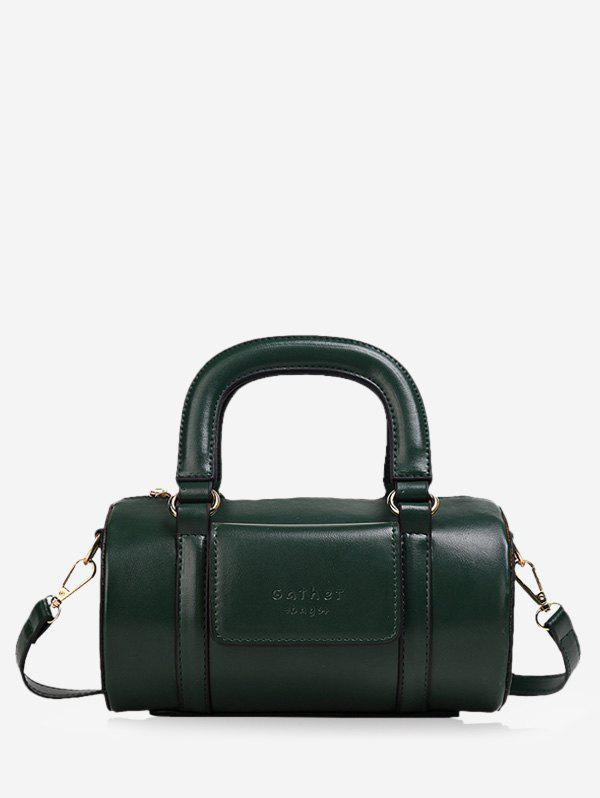 Trendy Solid Business Leather Boston Bag