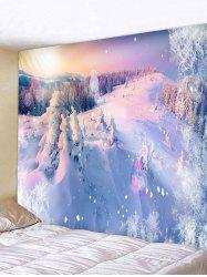 Snow Mountains Print Tapestry Wall Hanging Art Decoration -
