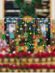 Merry Christmas Hanging Decorations Print Removable Wall Art Stickers -