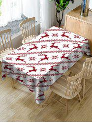 Christmas Deer Fabric Waterproof Table Cloth -