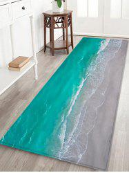 Beach Wave Pattern Water Absorption Area Rug -