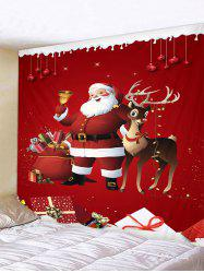 Father Christmas Gift Deer Pattern Tapestry -