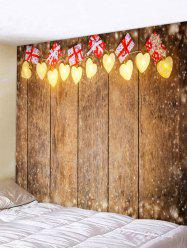 Christmas Heart Light Gift Pattern Tapestry Wall Hanging Art Decoration -