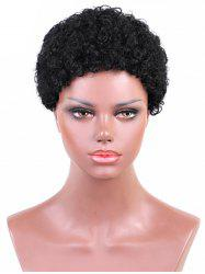 Short Solid Afro Curl Synthetic Wig -