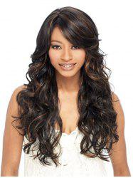 Synthetic Long Side Bang Loose Wave Wig -