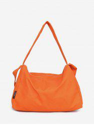 Canvas Big Zipper Solid Sports Bag -