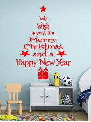Merry Christmas and New Year Greetings Print Wall Art Stickers -