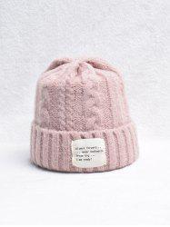 Winter Turn Up Edge Braid Knitted Hat -