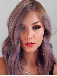 Ombre Medium Wavy Synthetic Side Part Wig -