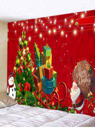 Santa Claus Christmas Tree Print Tapestry Wall Hanging Art Decoration -