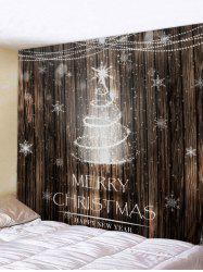 Christmas Tree Wooden Pattern Tapestry -