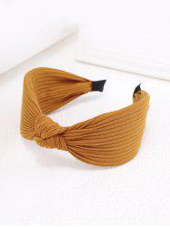 Striped Knitted Fabric Knot Wide Hairband -